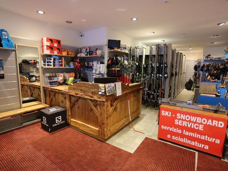 Interior of the C.Elle sport shop in Alleghe